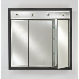 Great deal Eagle 47 x 40 Recessed Medicine Cabinet with Lighting ByCharlton Home