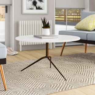 Donie Iron and Marble Coffee Table