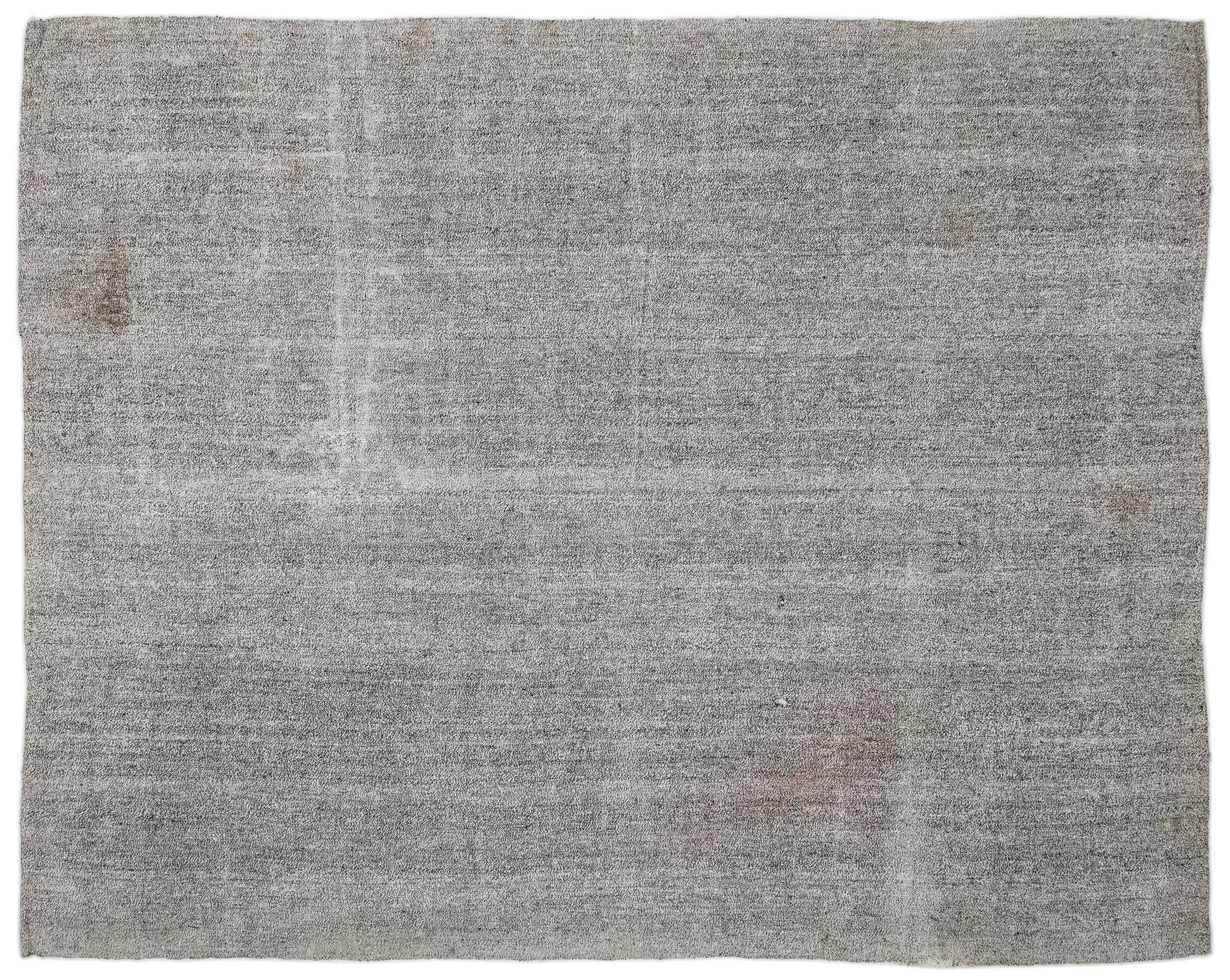 One Of A Kind Hand Knotted 7 1 X 9 1 Gray Area Rug