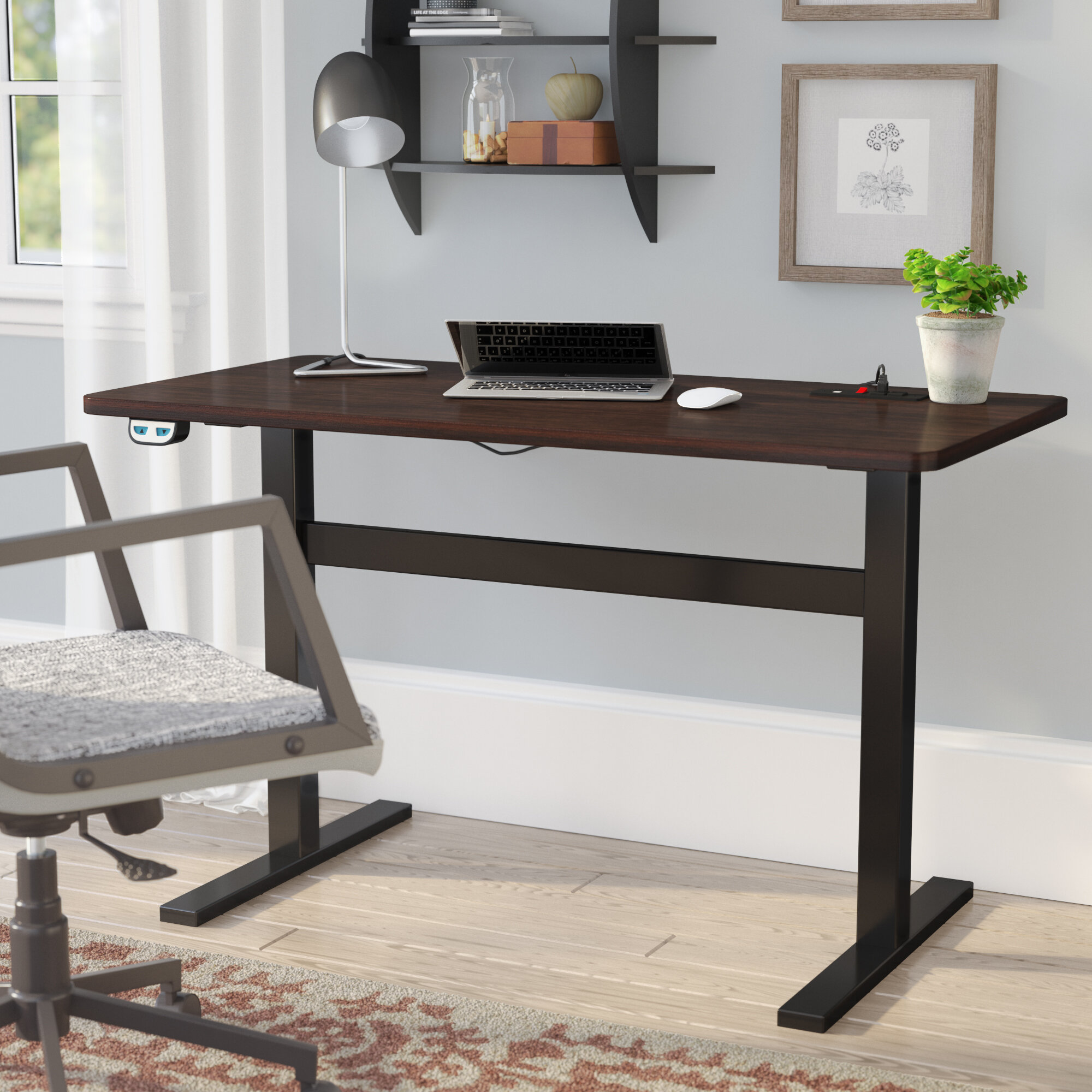 Rebrilliant Overby Electric Standing Desk Reviews Wayfair