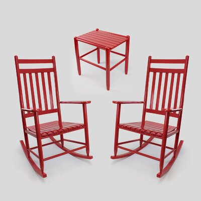 3 Piece Conversation Set Finish: Sienna Red by Dixie Seating