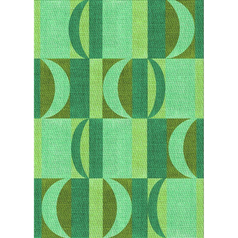 East Urban Home Lilyanna Geometric Wool Green Area Rug Wayfair