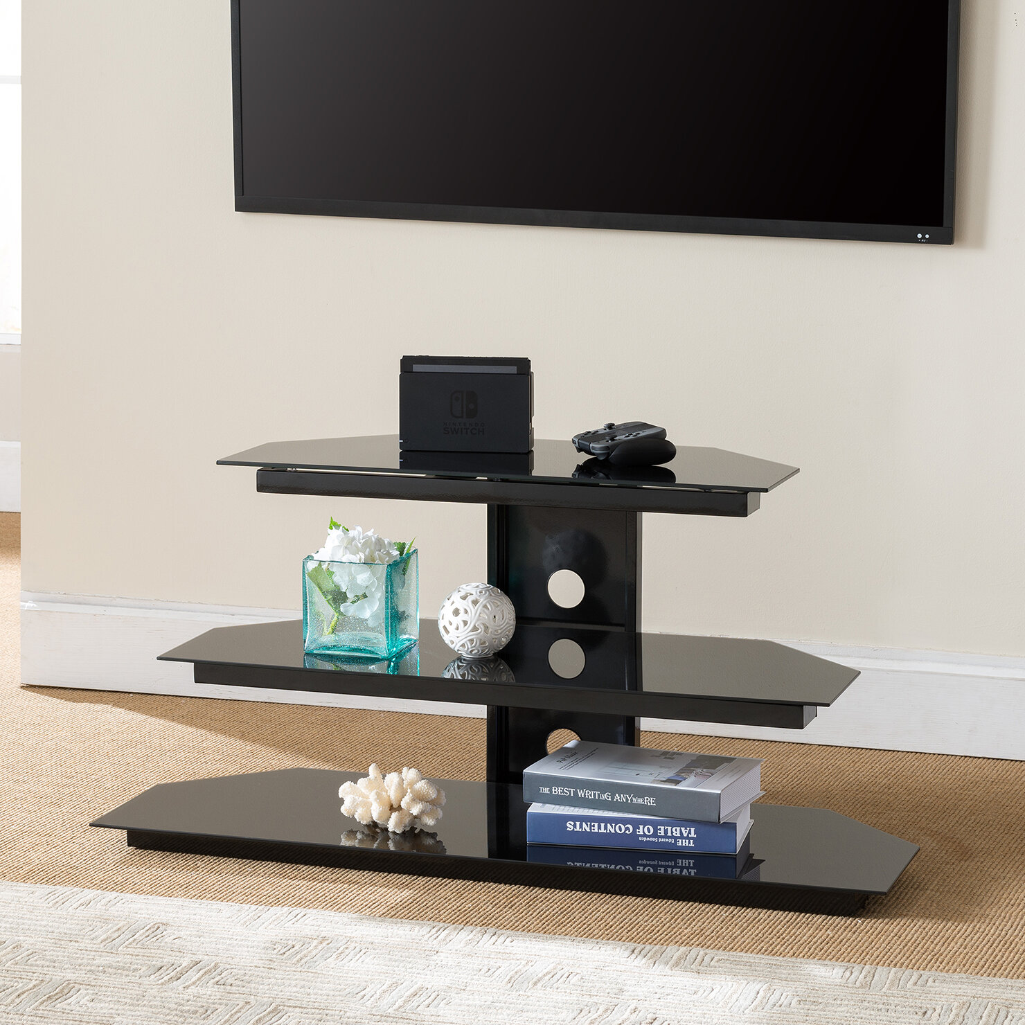 gaming tv stand Ebern Designs Marius Gaming TV Stand | Wayfair