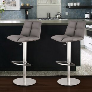 Maitland Adjustable Height Swivel Bar Stool Wade Logan