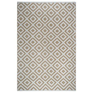 Looking for Markowski Hand-Woven Almond/White Indoor/Outdoor Area Rug ByGracie Oaks