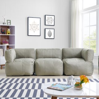 3 Piece Foam Modular Seating Bean Bag Set by Latitude Run SKU:CD613788 Description