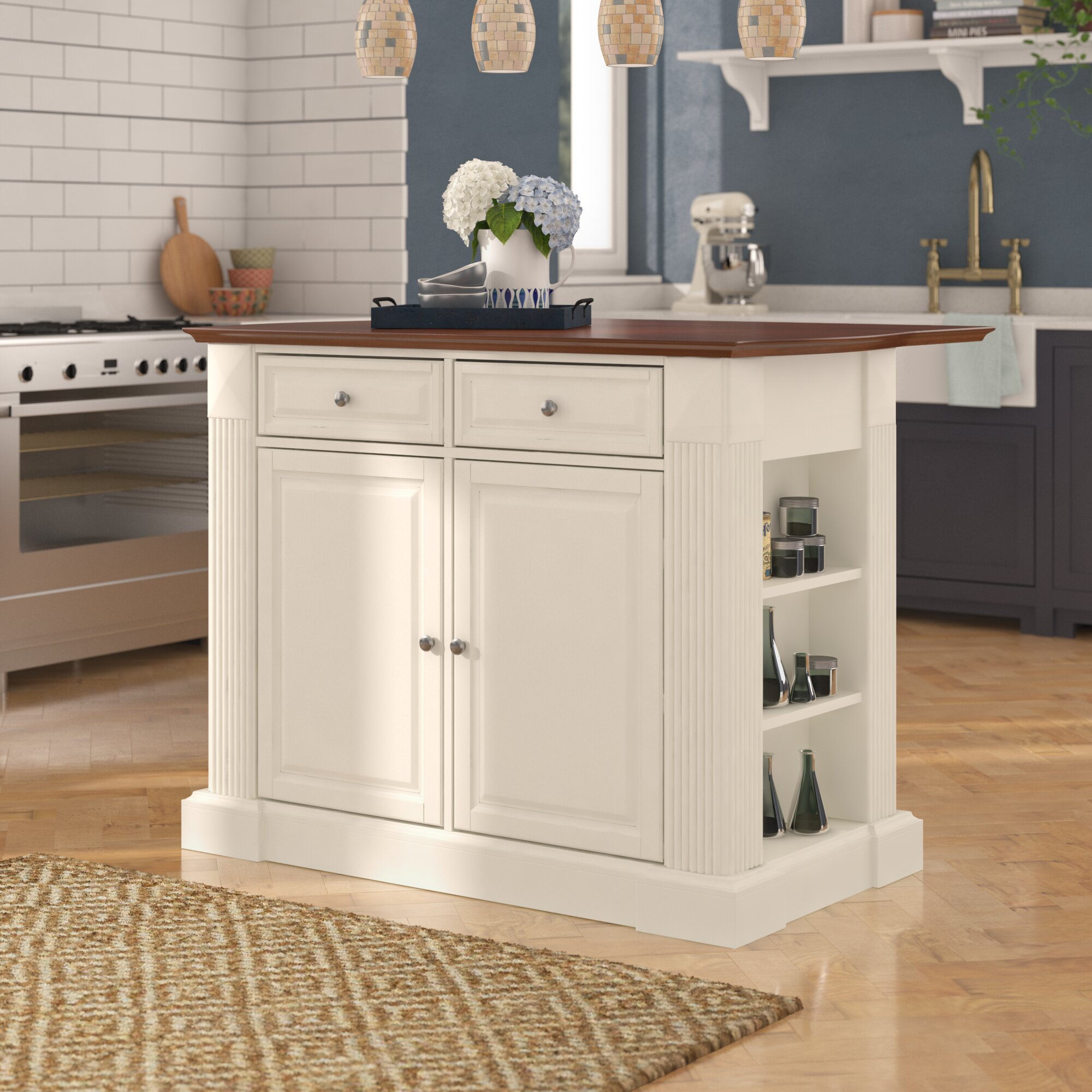 Three Posts Haslingden Kitchen Island Manufactured Wood Reviews Wayfair