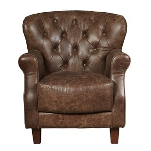 Reisman Chief Leather Club Chair by 17 Stories