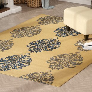 Short Natural / Blue Indoor/Outdoor Area Rug