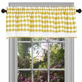 Yellow & Gold Valances & Kitchen Curtains You\'ll Love in ...