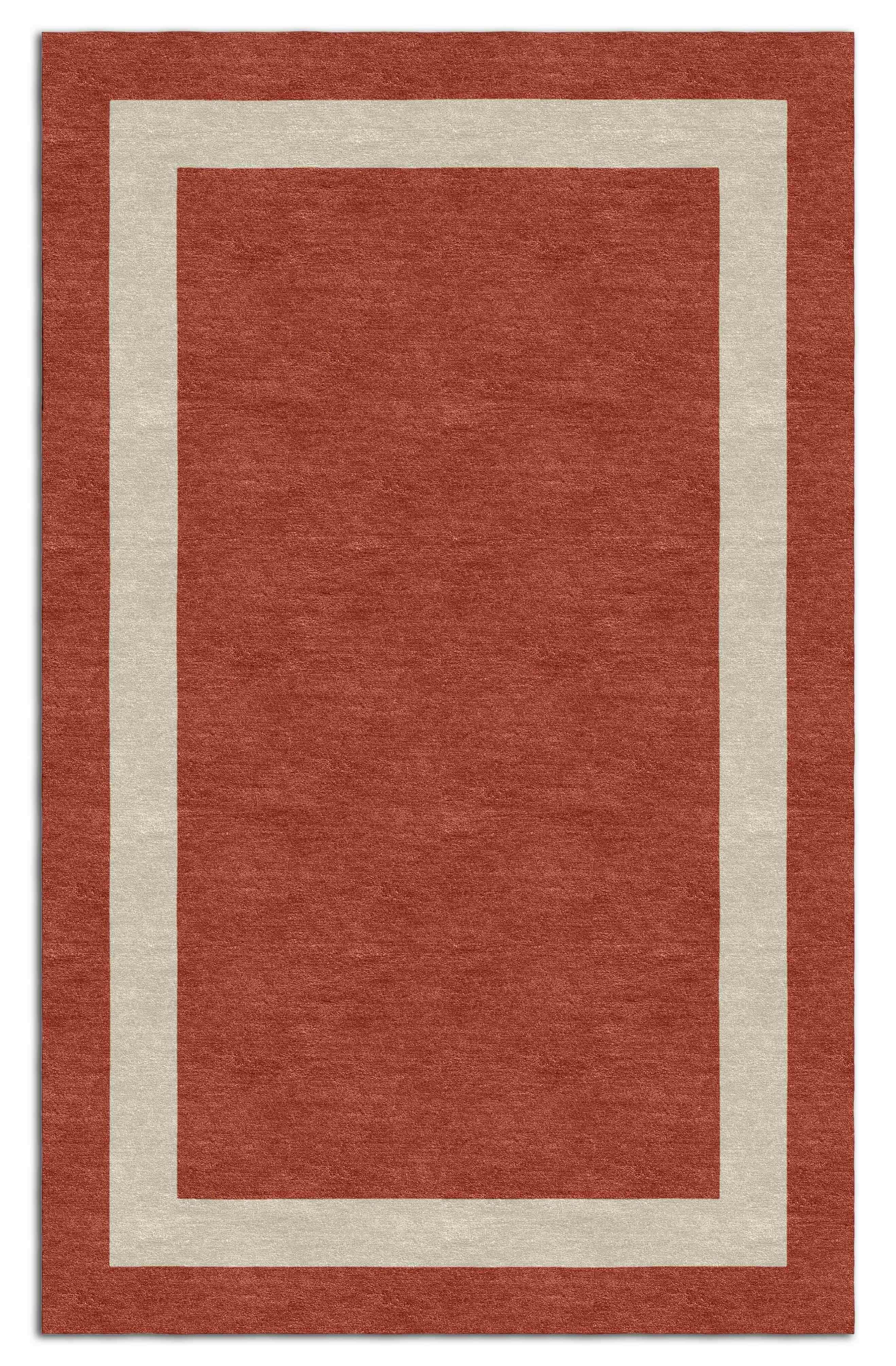 Darby Home Co Mowbray Stripe Hand Tufted Wool Red Area Rug Wayfair