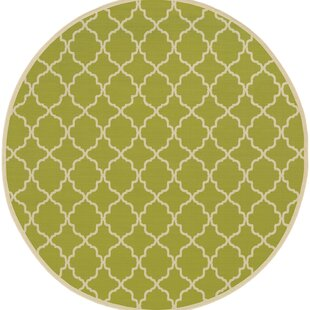 Alford Green/Ivory Geometric Indoor/Outdoor Area Rug