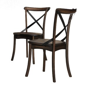 Farris Solid Wood Dining Chair (Set of 2) by Crown Mark