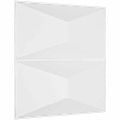 "Ekena Millwork Aberdeen Paintable Wallpaper Panel Size: 19.63"" x 19.63"""