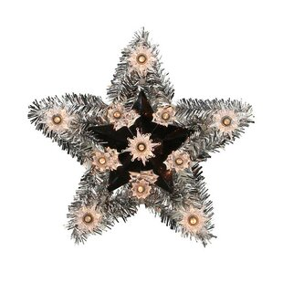 lighted tinsel star christmas tree topper - Unique Christmas Tree Toppers
