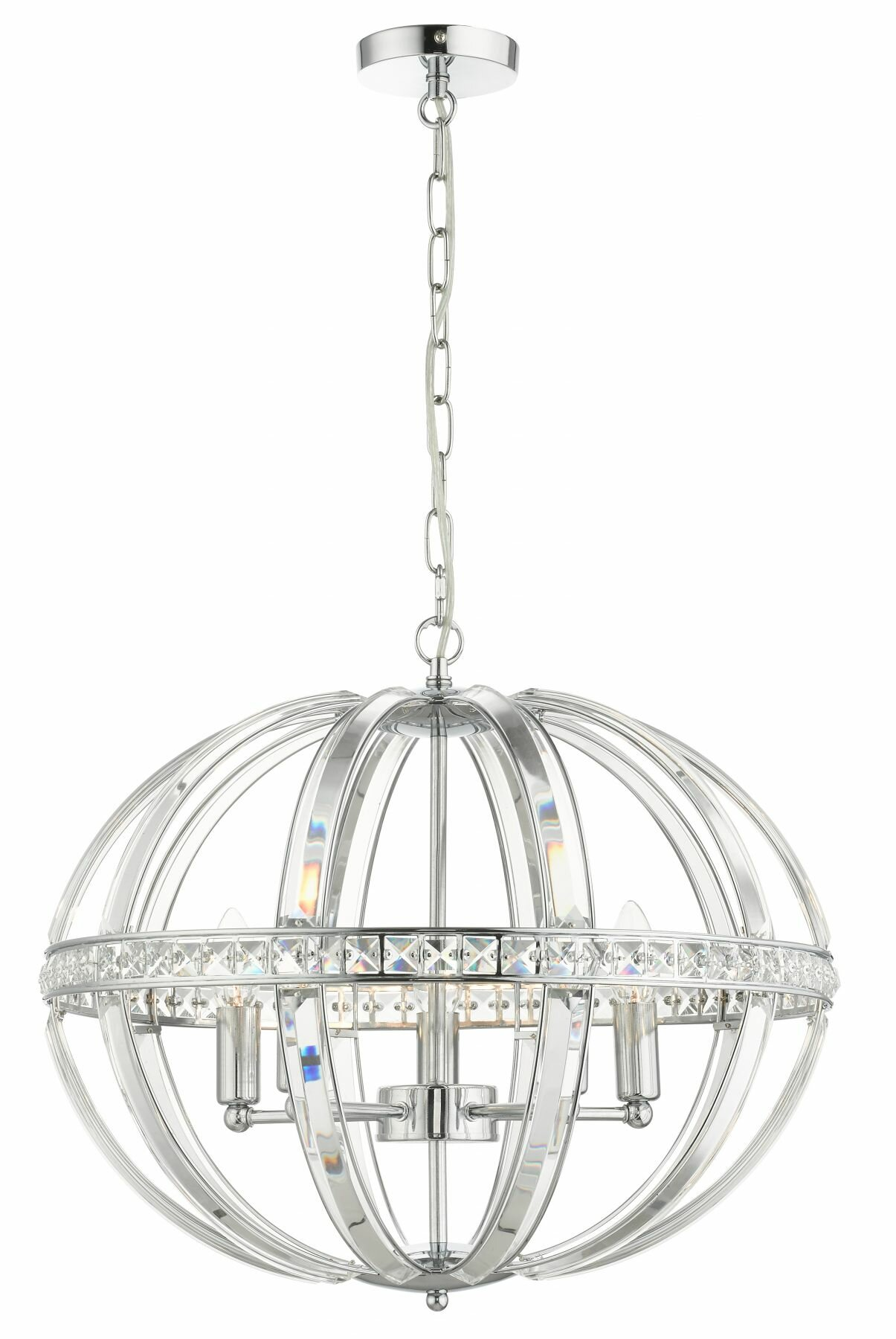 Willa Arlo Interiors Venus 5 Light Crystal Globe Pendant Wayfair Co Uk