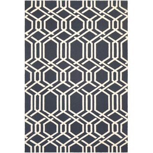 Marshfield Ariatta Hand-Woven Navy/Ivory Indoor/Outdoor Area Rug