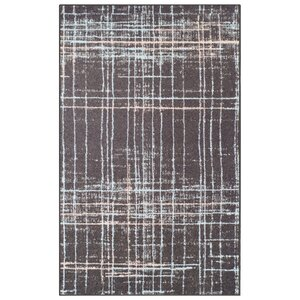 Calista Painted Stripes Gray Area Rug