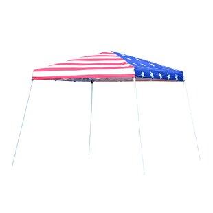 Slant Leg 10 Ft. W x 10 Ft. D Steel Pop-Up Canopy by Outsunny