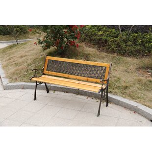 Celia Outdoor Wooden Park Bench by Loon Peak