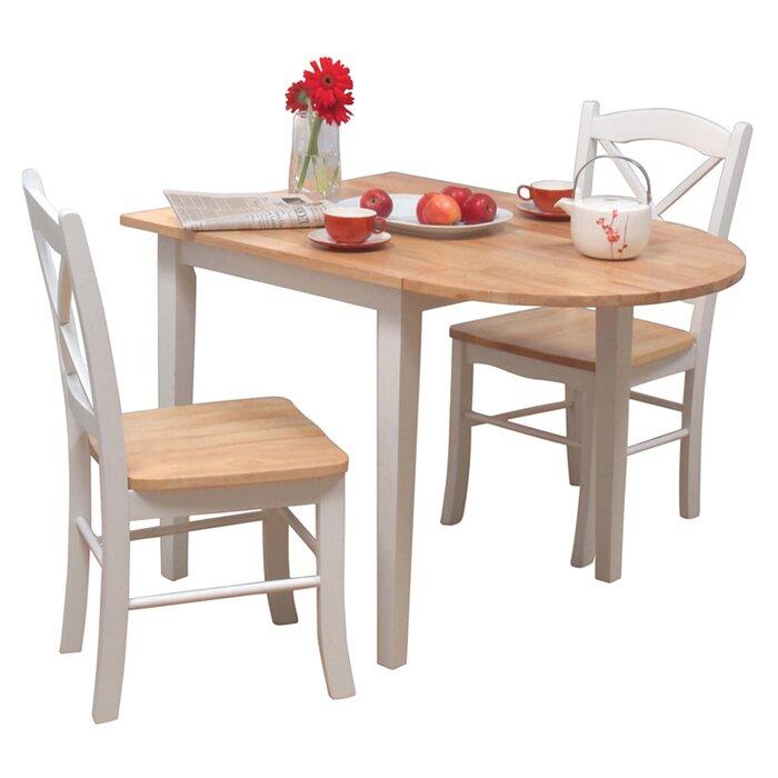 Charlton Home Castellon 3 Piece Breakfast Nook Dining Set Reviews Wayfair