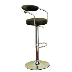 Uptown Adjustable Height Swivel Bar Stool by EC World Imports