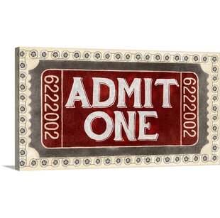 'Admit One by PI Studio Vintage Advertisement By Great Big Canvas