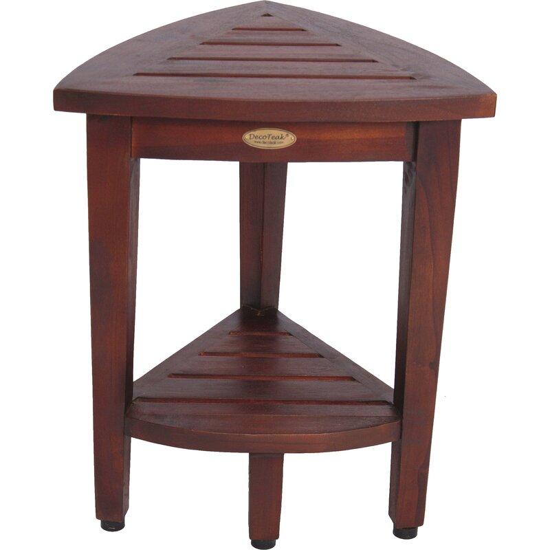Oasis Compact Teak Corner Shower Seat