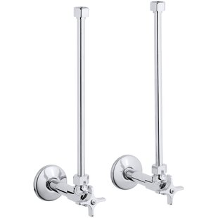 Kohler Pair Angle Supplies with Stop, Cross Handle and Annealed Vertical Tube