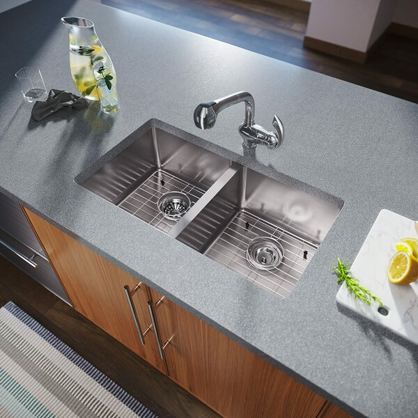 Kitchen Sinks 3120d 14 Gauge Undermount Double Bowl 3 4 Inch