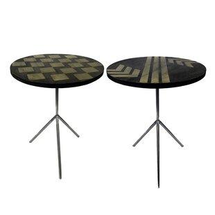 Degnan Contemporary 2 Piece End Table Set