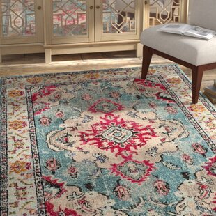 Inexpensive Annabel Light Blue/Fuchsia Area Rug By Bungalow Rose
