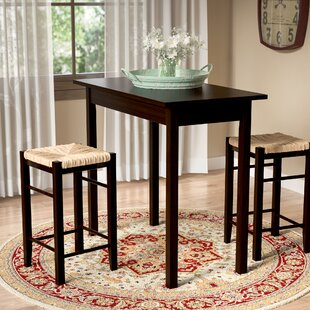 Tenney 3 Piece Counter Height Dining Set August Grove