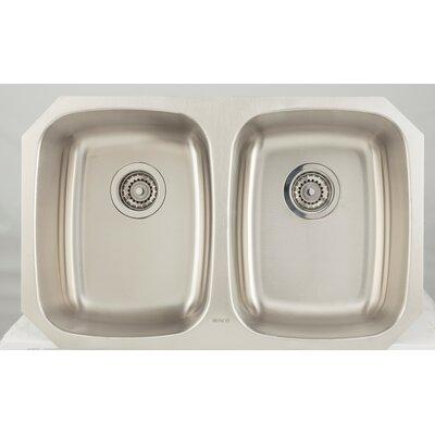 Awe Inspiring 29 L X 19 W Double Basin Undermount Kitchen Sink American Inzonedesignstudio Interior Chair Design Inzonedesignstudiocom