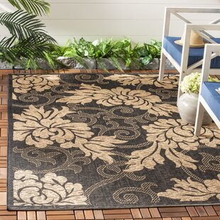 Laurel Black/Gray Indoor/Outdoor Area Rug