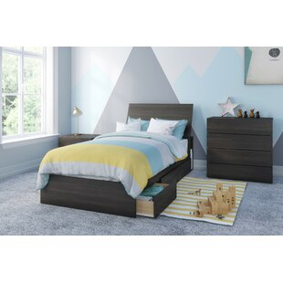 Pereda Twin Platform 3 Piece Bedroom Set by Harriet Bee