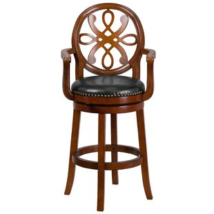 Fatum Wood 30 Swivel Bar Stool Astoria Grand