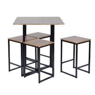 Malave 5 Piece Pub Table Set