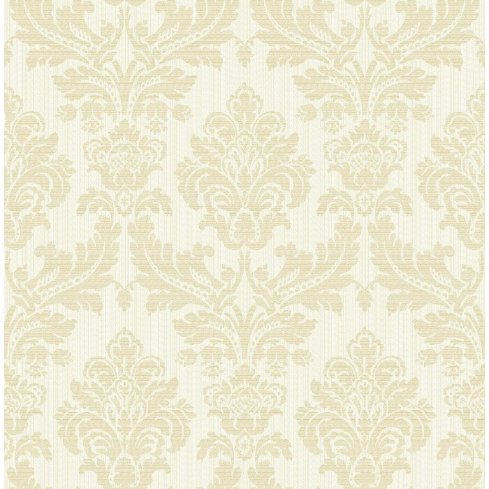 Cascio Damask 33 L X 20 5 W Metallic Texture Wallpaper Roll