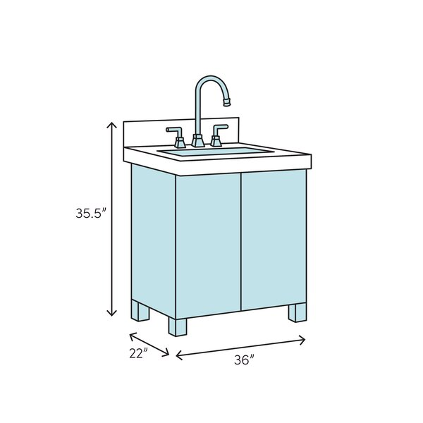 Laurel Foundry Modern Farmhouse Clemmie 37 Single Bathroom Vanity Set Reviews Wayfair