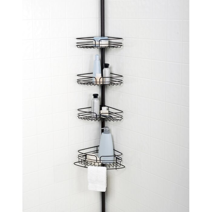 Versalot Tub and Shower Tension Pole Corner Shower Caddy & Reviews ...