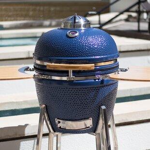 Kamado Charcoal Grill With Smoker By Lifesmart