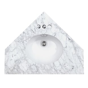 Comparison Mirrored Corner 29 Single Bathroom Vanity Top ByHome Loft Concepts