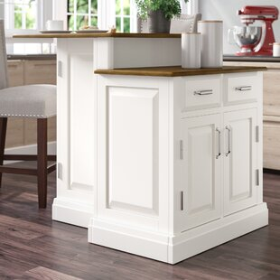 Susana Kitchen Island with Wooden Top by DarHome Co