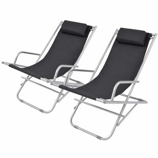 Addyson Steel Reclining Beach Chair (Set Of 2) By Zipcode Design