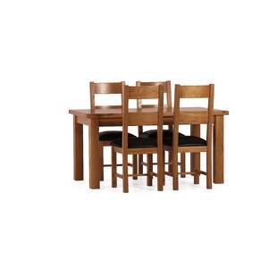 Review Rebekah Dining Set With 4 Chairs