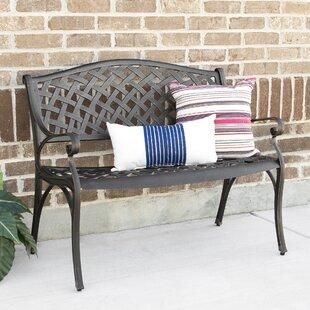 Eoin Cast Aluminum Garden Bench