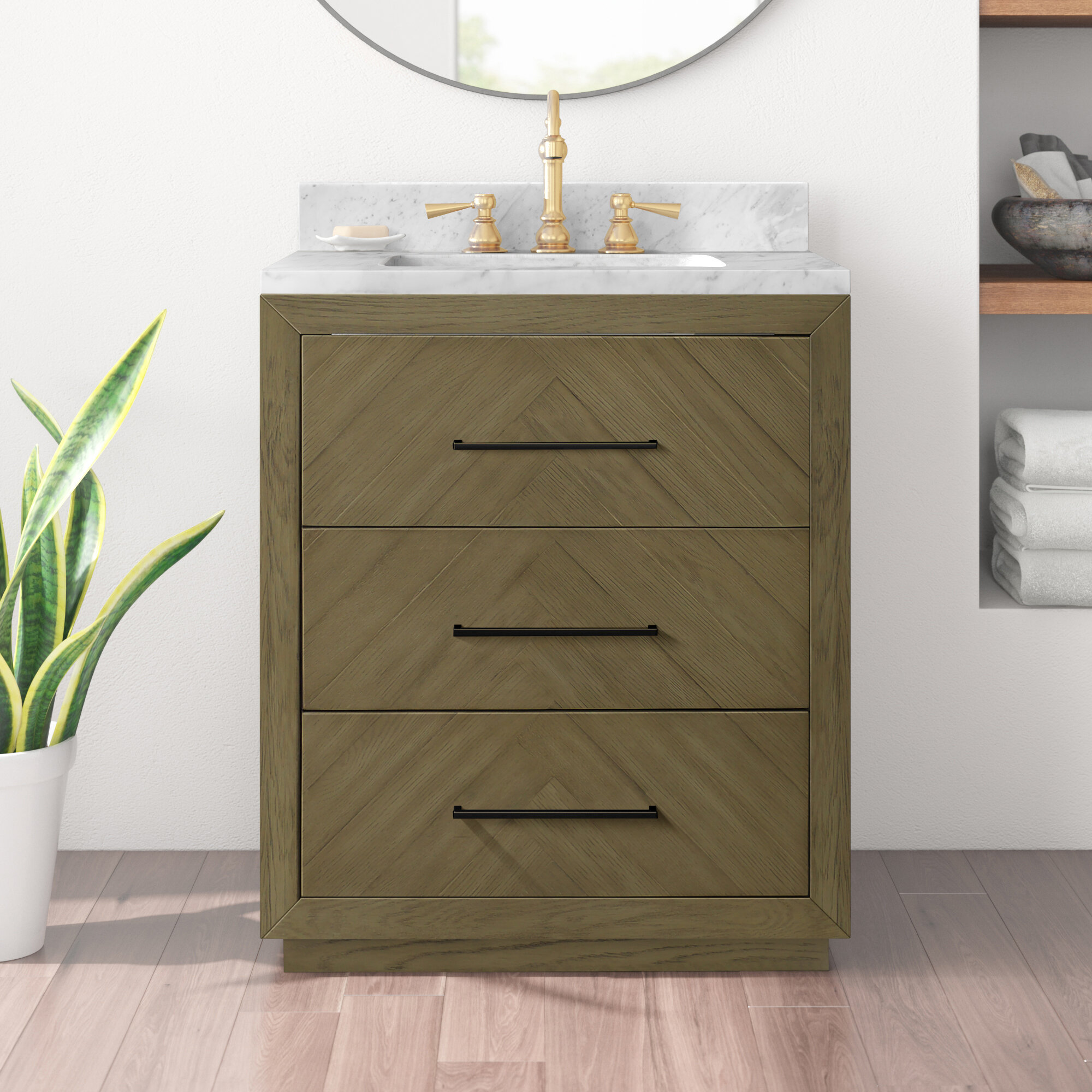 Modern 3 Drawer Bathroom Vanities Allmodern