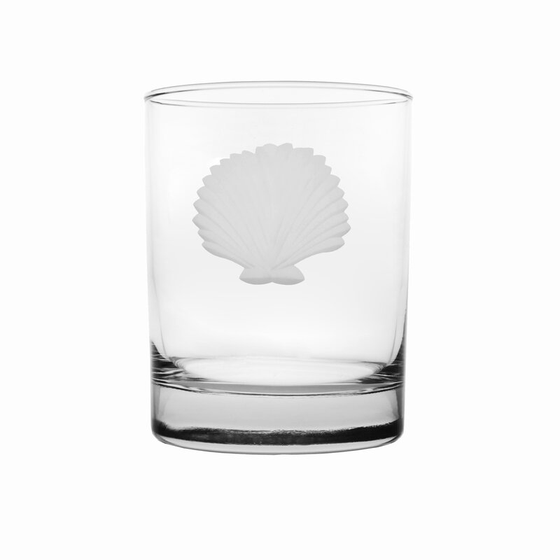 Seashell Double Old Fashioned Glass