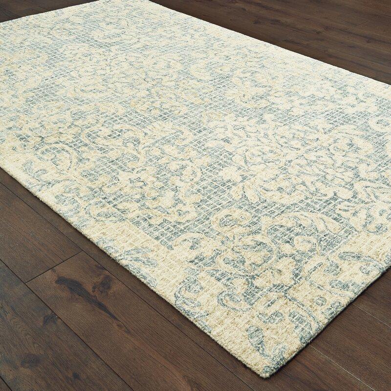 Ophelia Co Marissa Oriental Handmade Tufted Wool Blue Area Rug Wayfair